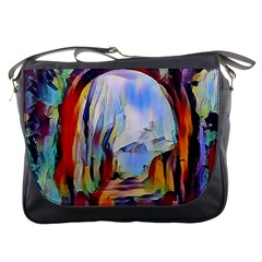 Abstract Tunnel Messenger Bags by 8fugoso