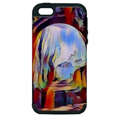 Abstract Tunnel Apple Iphone 5 Hardshell Case (pc+silicone)