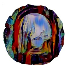 Abstract Tunnel Large 18  Premium Round Cushions