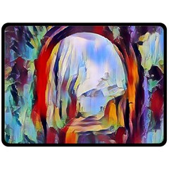 Abstract Tunnel Double Sided Fleece Blanket (large)