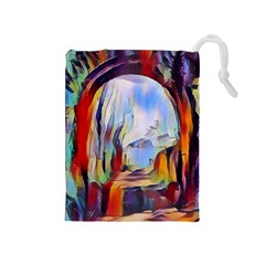 Abstract Tunnel Drawstring Pouches (medium)