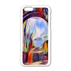 Abstract Tunnel Apple Iphone 6/6s White Enamel Case by 8fugoso