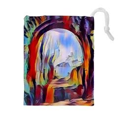Abstract Tunnel Drawstring Pouches (extra Large) by 8fugoso