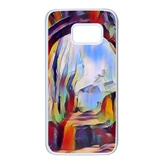 Abstract Tunnel Samsung Galaxy S7 White Seamless Case