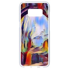 Abstract Tunnel Samsung Galaxy S8 White Seamless Case