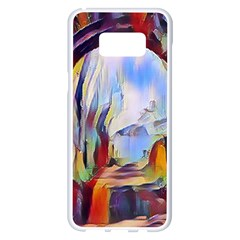 Abstract Tunnel Samsung Galaxy S8 Plus White Seamless Case
