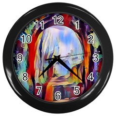 Abstract Tunnel Wall Clocks (black) by 8fugoso