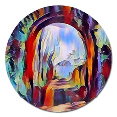 Abstract Tunnel Magnet 5  (round) by 8fugoso