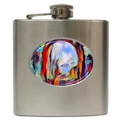Abstract Tunnel Hip Flask (6 Oz) by 8fugoso