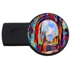 Abstract Tunnel Usb Flash Drive Round (2 Gb) by 8fugoso