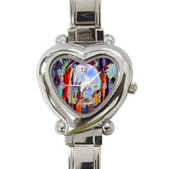 Abstract Tunnel Heart Italian Charm Watch by 8fugoso
