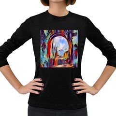 Abstract Tunnel Women s Long Sleeve Dark T Shirts by 8fugoso