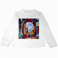 Abstract Tunnel Kids Long Sleeve T Shirts by 8fugoso