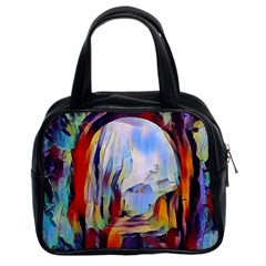 Abstract Tunnel Classic Handbags (2 Sides) by 8fugoso