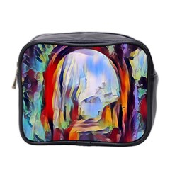 Abstract Tunnel Mini Toiletries Bag 2 Side by 8fugoso