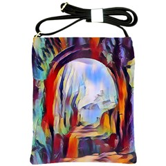 Abstract Tunnel Shoulder Sling Bags by 8fugoso