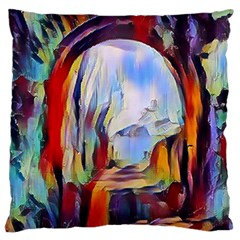 Abstract Tunnel Large Cushion Case (two Sides) by 8fugoso