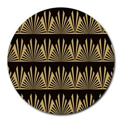 Art Deco Round Mousepads by 8fugoso