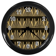 Art Deco Wall Clocks (black) by 8fugoso