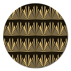 Art Deco Magnet 5  (round) by 8fugoso