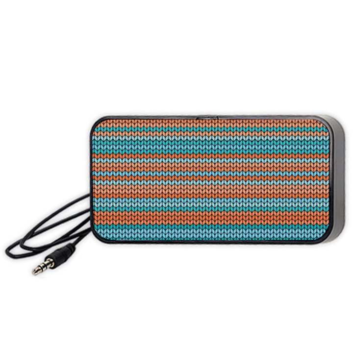 Winter Pattern 1 Portable Speaker (Black)