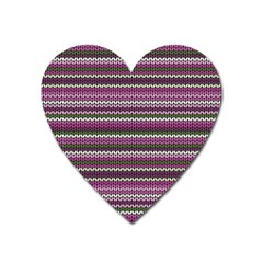 Winter Pattern 2 Heart Magnet