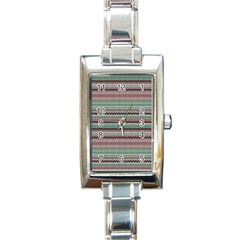 Winter Pattern 3 Rectangle Italian Charm Watch by tarastyle