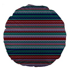 Winter Pattern 4 Large 18  Premium Round Cushions by tarastyle
