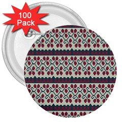 Winter Pattern 5 3  Buttons (100 Pack)  by tarastyle