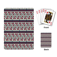 Winter Pattern 5 Playing Card by tarastyle