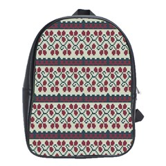 Winter Pattern 5 School Bag (large) by tarastyle