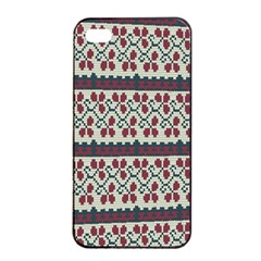Winter Pattern 5 Apple Iphone 4/4s Seamless Case (black) by tarastyle