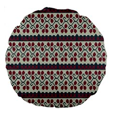 Winter Pattern 5 Large 18  Premium Round Cushions by tarastyle