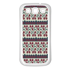 Winter Pattern 5 Samsung Galaxy S3 Back Case (white) by tarastyle