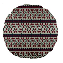 Winter Pattern 5 Large 18  Premium Flano Round Cushions by tarastyle