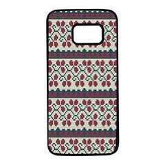 Winter Pattern 5 Samsung Galaxy S7 Black Seamless Case by tarastyle