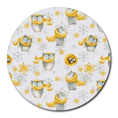 Winter Pattern 6 Round Mousepads by tarastyle