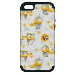Winter Pattern 6 Apple Iphone 5 Hardshell Case (pc+silicone) by tarastyle