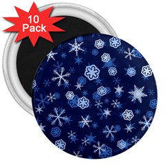 Winter Pattern 8 3  Magnets (10 Pack)  by tarastyle
