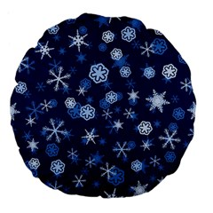 Winter Pattern 8 Large 18  Premium Flano Round Cushions by tarastyle