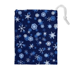 Winter Pattern 8 Drawstring Pouches (extra Large) by tarastyle