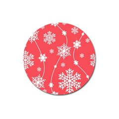 Winter Pattern 9 Magnet 3  (round) by tarastyle