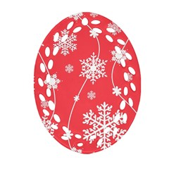 Winter Pattern 9 Ornament (oval Filigree) by tarastyle