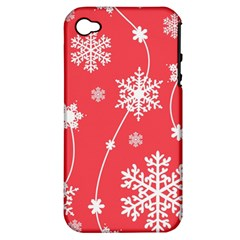 Winter Pattern 9 Apple Iphone 4/4s Hardshell Case (pc+silicone)