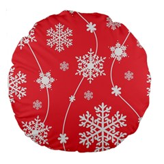 Winter Pattern 9 Large 18  Premium Round Cushions by tarastyle