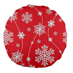 Winter Pattern 9 Large 18  Premium Flano Round Cushions by tarastyle