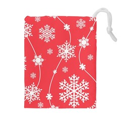 Winter Pattern 9 Drawstring Pouches (extra Large) by tarastyle