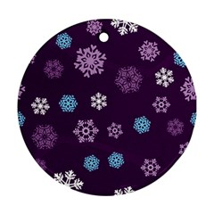 Winter Pattern 10 Ornament (round) by tarastyle