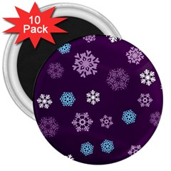 Winter Pattern 10 3  Magnets (10 Pack)  by tarastyle
