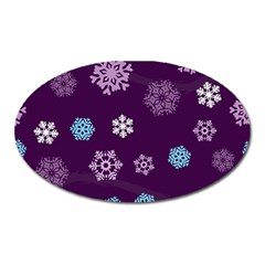 Winter Pattern 10 Oval Magnet by tarastyle